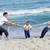 happy family playing tug of war stock photo © wavebreak_media