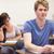 jungen · Studenten · Zuordnung · Klassenzimmer · Frau · glücklich - stock foto © wavebreak_media