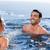 glimlachend · paar · spelen · zwembad · water · gezicht - stockfoto © wavebreak_media