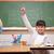 glimlachend · schoolmeisje · hand · vraag · klas - stockfoto © wavebreak_media