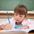 ernstig · meisje · schrijven · klas · school · kind - stockfoto © wavebreak_media