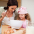 mother and daughter preparing cookies together stock photo © wavebreak_media