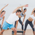 sınıf · egzersiz · uygunluk · stüdyo · eğitmen - stok fotoğraf © wavebreak_media