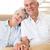 gelukkig · holding · handen · huis · ouderdom · accommodatie - stockfoto © wavebreak_media