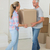 gelukkig · paar · karton · nieuw · huis · vrouw - stockfoto © wavebreak_media