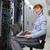 vrouw · servers · bouw · werk · veiligheid - stockfoto © wavebreak_media