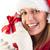 portret · uśmiechnięty · młoda · kobieta · dar · biały - zdjęcia stock © wavebreak_media