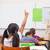 pupils raising hand during geography lesson in classroom stock photo © wavebreak_media