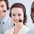 müşteri · hizmetleri · ayakta · hat · kulaklık · bilgisayar · ofis - stok fotoğraf © wavebreak_media