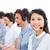 fiatal · üzletemberek · ügyfélszolgálat · beszél · headset · számítógép - stock fotó © wavebreak_media