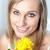 portre · parlak · kadın · sarı · güller - stok fotoğraf © wavebreak_media