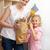 boldog · anya · kislány · élelmiszer · táska · konyha - stock fotó © wavebreak_media