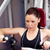 Serious athletic woman using a bench press in a fitness center stock photo © wavebreak_media