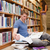 mannelijke · bibliotheek · boek · student · onderwijs - stockfoto © wavebreak_media