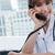 portré · örömteli · orvos · telefon · iroda · számítógép - stock fotó © wavebreak_media