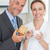 ontbijt · gelukkig · paar · man · vrouw · toast - stockfoto © wavebreak_media