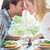 bonitinho · afetuoso · casal · refeição · juntos · casa - foto stock © wavebreak_media