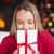 güzel · mutlu · kadın · Noel · genç · kadın - stok fotoğraf © wavebreak_media