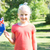 little girl waving australian flag stock photo © wavebreak_media