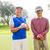 golf · amici · coppe · sorridere · fotocamera - foto d'archivio © wavebreak_media