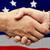 stringere · la · mano · bandiera · americana · business · mani · party · successo - foto d'archivio © wavebreak_media