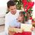 portre · gülen · baba · kız · açılış · Noel - stok fotoğraf © wavebreak_media
