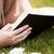 vrouw · lezing · boek · outdoor · portret · jonge · vrouw - stockfoto © wavebreak_media