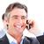 mutlu · işadamı · konuşma · telefon · beyaz · ofis - stok fotoğraf © wavebreak_media