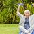 idős · nő · személyi · edző · néz · kamera · mosolyog - stock fotó © wavebreak_media