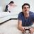adam · oynama · video · oyunları · ağlayan · oturma · odası · ev - stok fotoğraf © wavebreak_media