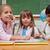 gelukkig · schoolmeisjes · lezing · sprookje · medeleerling · naar - stockfoto © wavebreak_media