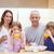 улыбаясь · семьи · завтрак · кухне · дома · любви - Сток-фото © wavebreak_media