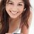 tiro · mulher · sorrindo · mãos · sorrir - foto stock © wavebreak_media