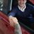 man shaking hand of a woman in a car stock photo © wavebreak_media