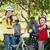boldog · család · bicikli · park · remek · napos · idő · nő - stock fotó © wavebreak_media