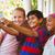 Happy kids taking selfie in school corridor stock photo © wavebreak_media