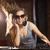 óculos · de · sol · jogar · música · diversão · jovem · estúdio - foto stock © wavebreak_media