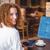довольно · девушки · небольшой · таблетка · таблице · кафе - Сток-фото © wavebreak_media