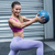 a muscular woman doing ball exercises stock photo © wavebreak_media