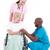 doktor · konuşma · hasta · tekerlek · sandalye · kıdemli - stok fotoğraf © wavebreak_media
