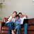 szülők · gyerek · szórakozás · laptop · copy · space · otthon - stock fotó © wavebreak_media