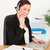 肖像 · 女性 · 電話 · 職場 - ストックフォト © wavebreak_media