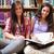 souriant · Homme · élèves · livre · bibliothèque · femme - photo stock © wavebreak_media