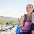 kobieta · rowerzysta · manierka · żywności · podróży - zdjęcia stock © wavebreak_media
