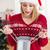 Рождества · подарок · сумку · красный · звездой · дизайна - Сток-фото © wavebreak_media