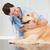 sonriendo · veterinario · examinar · cute · perro · médicos - foto stock © wavebreak_media