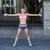a pretty woman stretching herself in the street stock photo © wavebreak_media