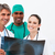 férfi · női · orvosok · megvizsgál · röntgen · orvosi - stock fotó © wavebreak_media