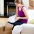 caucasiano · mulher · quebrar · caixas · casa · sorridente - foto stock © wavebreak_media