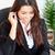 ázsiai · üzletasszony · visel · fejhallgató · lemez · iroda - stock fotó © wavebreak_media